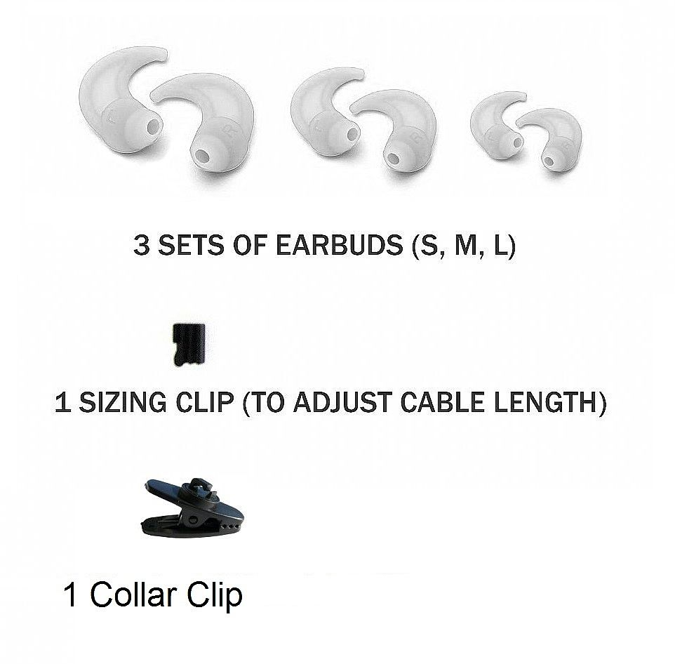 RevJams Active headphones Spare Parts kit- White